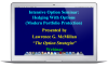 Recorded Intensive Option Webinar:  Modern Portfolio Protection