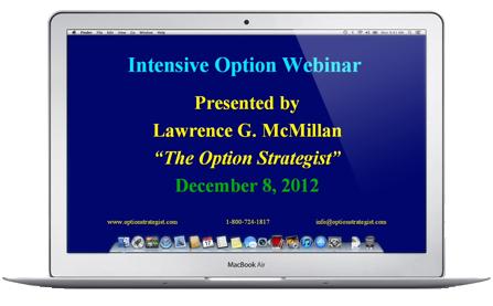 Recorded Intensive Option Webinar:  Volatility Trading