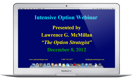 Recorded Intensive Option Webinar:  Volatility Trading