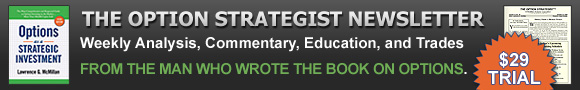 The Option Strategist Newsletter $29 trial