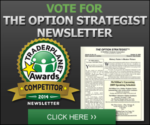 Vote for The Option Strategist Newsletter